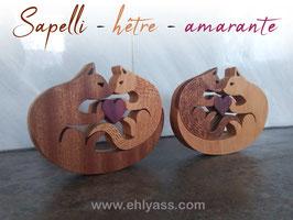 Sculpture Amour de chats (2 versions)