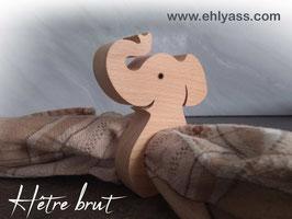 Rond de serviette Éléphant trompe levée (épais)