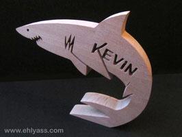 Sculpture Requin + prénom jusqu'à 6 lettres