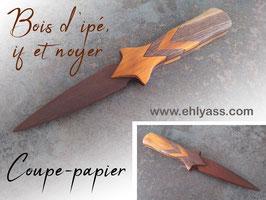 Coupe-papier Dague 3 bois