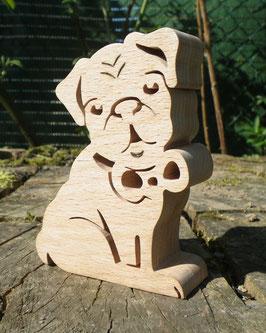 Sculpture Chien Carlin