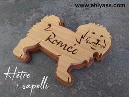 Plaque de porte chien Bichon maltais