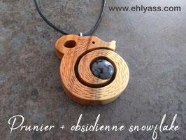 Amulette Petit loir en bois + pierre