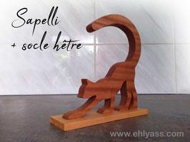 Sculpture Chat debout sur socle