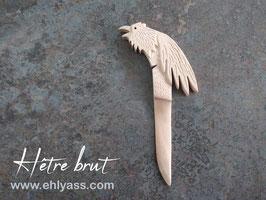 Coupe-papier Corbeau en hêtre sculpté