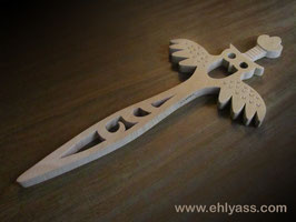 Dague médiévale Hibou décorative sculptée