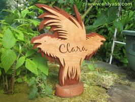 Sculpture corbeaux + prénom 5 lettres à 8 lettres