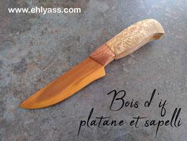Couteau décoratif en plusieurs bois
