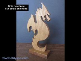 Sculpture Dragon dressé