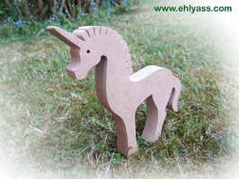 Sculpture Petite licorne à peindre