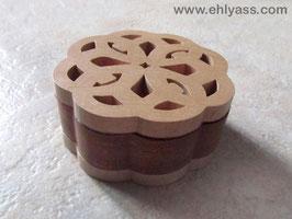 Coffret boîte celtique en bois de hêtre et sapelli