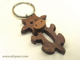 Porte-clés Vache (2 bois)