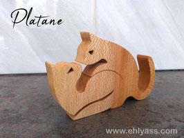 Sculpture Couple de chats amoureux