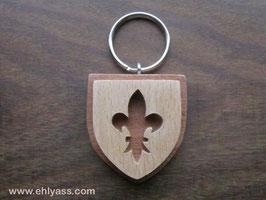Porte-clés Fleur de Lys (2 bois)