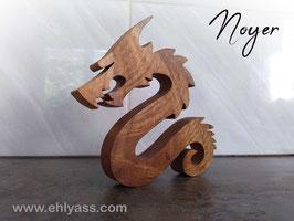 Sculpture Dragon sinueux en Noyer (ÉPAIS)