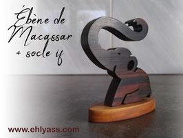 Sculpture Mini éléphant en bois précieux
