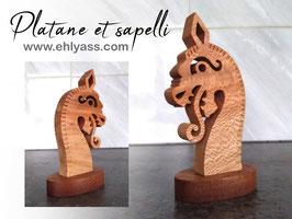 Sculpture viking Drakkar simple (ÉPAIS)