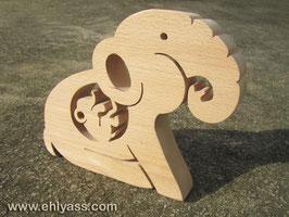 Sculpture Éléphante enceinte 1