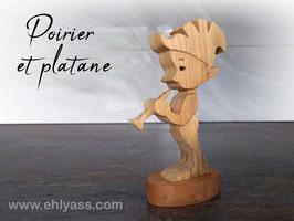 Sculpture Lutin Clarinettiste