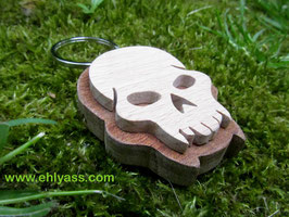 Porte-clés Pirate, Crâne / tête de mort (2 bois)