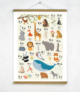 ABC Poster + Posterleiste 50cm Eiche