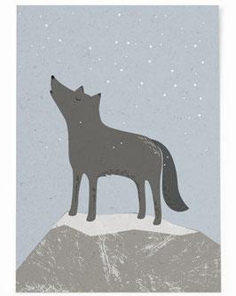 SALE - Postkarte Wolf