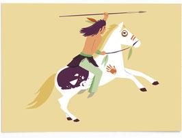 SALE - Postkarte Indianer