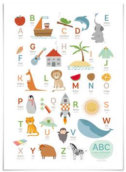 ABC Poster deutsch/englisch 50x70 cm