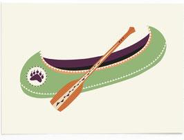 SALE - Postkarte Kanu