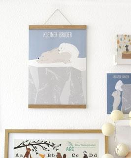 Geschwister Poster + Posterleiste A3 Eiche