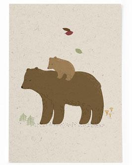 SALE - Postkarte Bär