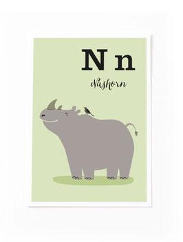 SALE - N wie Nashorn