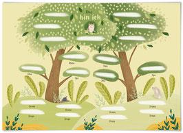 Stammbaum Poster DIN A4