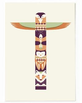 SALE - Postkarte Totem