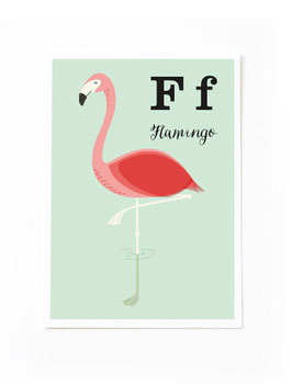 SALE - F wie Flamingo