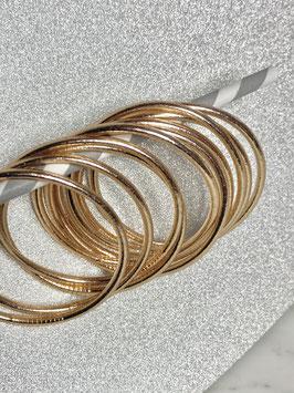 Bracelets bouddhistes épais or rose