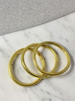 Bracelets bouddhistes épais or jaune