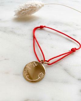 BRACELET médaille fine PERSONNALISÉE