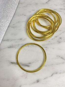 Bracelets bouddhistes fins or jaune