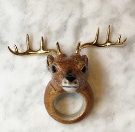 """bagues cerf en porcelaine et plaqué or """"nach bijoux"""""""