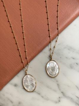 collier motif oeil en plaqué or