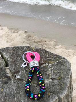 Schlüsselanhänger Segelseil MOIN Seepferd pink-konfetti