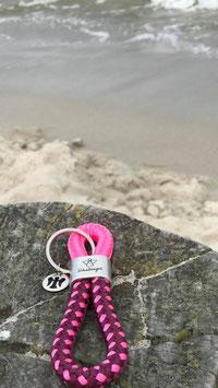 Schlüsselanhänger Segelseil Schutzengel pink
