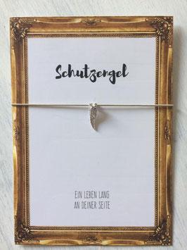 """Wunscharmband """"Schutzengel"""" sand"""