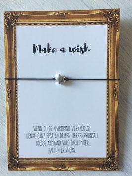 "Wunscharmband ""Make a wish"" schwarz"