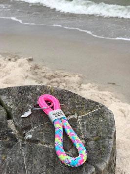 Schlüsselanhänger Segelseil Meer geht immer Papierboot pink-bonbon