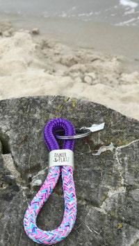 Schlüsselanhänger Segelseil ANKERPLATZ Papierboot lila-meerjungfrau