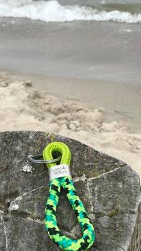 Schlüsselanhänger Segelseil GLÜCKSBRINGER Käfer grün