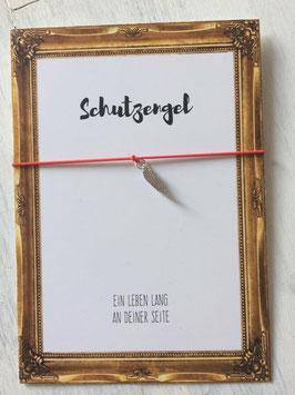 """Wunscharmband """"Schutzengel"""" rot"""