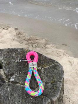 Schlüsselanhänger Segelseil Steuerrad pink-bonbon